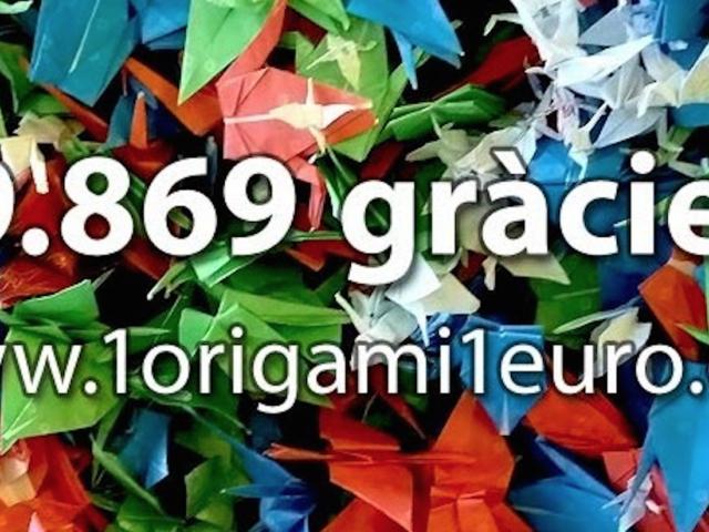 Agraïment origamis Mutua General Catalunya